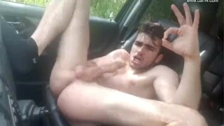 Young French twink car JO - Thony Grey Bound jizz