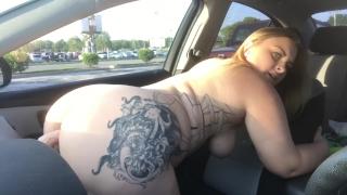 Dildo xx public caught my riding video on dashboard dildo sex