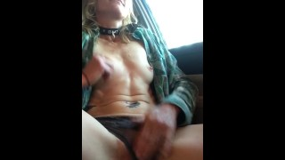 Rubbing One Out in the Car Too Horny to Wait