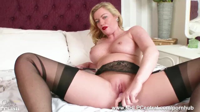 Wet pussy black Hot milf holly kiss toys wet pussy in black nylons kinky high heels garters