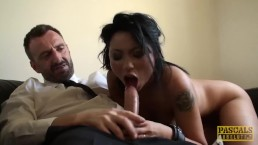 Super hot British whore punished by rough dom cock