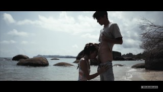 I cum on her tits at THE BEACH  The Sex Diaries 04 Crying teen