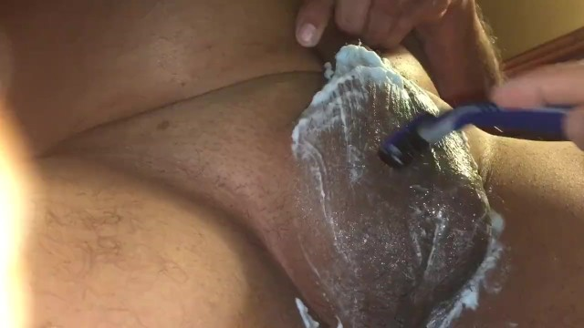 Cock shaving fetish