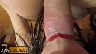 FPOV Blowjob swallow FEMALE POV, I swallow all his load (CLOSE UP BLOWJOB) Sloppy homemade