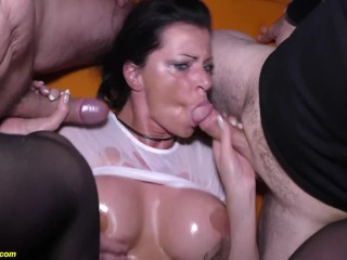 Sucking Cock Porn Tube busty german milf dacada extreme rough group banged