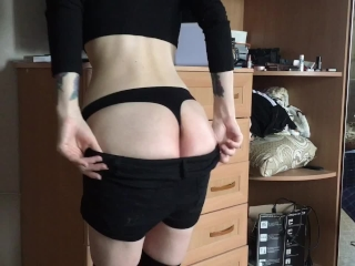 Preview 1 of gentle blowjob from blonde and sweet anal