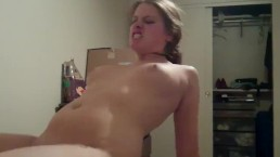 riding cock he cums in me with his fingers in my ass