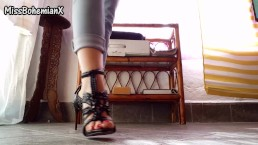 My new Black High Heels - Shoe Fetish (Teaser)
