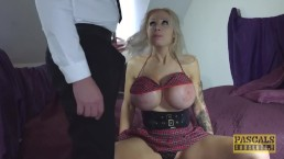Huge tits subslut fucked hard in all of her craving holes