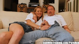 Skinny Blonde Slut Wife Fucks for DVD