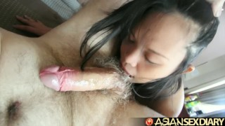 Asian Sex Diary – BBW Filipina Milf gets creampie from white dude