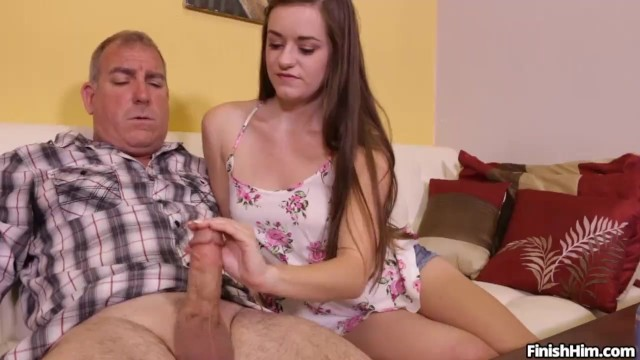 Teen Wants To Try Her Handjob Skills On Mature Man