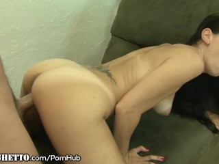 Tramp Stamped MILF takes Huge White Dick