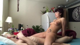Waking Him Up With a Suck and Fuck
