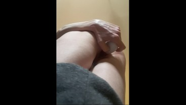 Was so horny, that started to fuck myself staying on the knees till orgasm