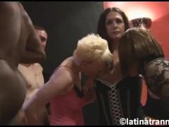 Nikki Montero, 1 crossdresser, 2 British female sluts and guys on a UK orgy