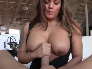Tongue Out Cumshot Jasmeen expertly makes a big dick squirt