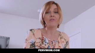 PervMom - Hot Mom Finds Stepsons Jizz Rag Brunette pussy