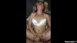 Getting fucked to a massive orgasm on his cock
