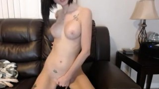 Sexy Hottie With Big Melons Masturbates Pussy so Hard