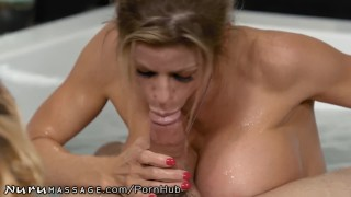 Stepmommy nuru fawx massage working son alexis at caught big stepmom