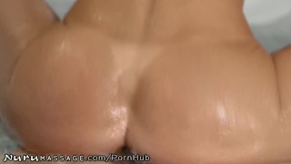 Son Caught Step-Mommy Alexis Fawx Working at Nuru Massage! Fuck stepsister