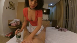 Fucked creampied and cheap massage girl remove condom