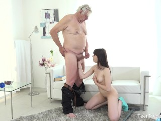 Housewives Having Sex Old - n - Young.com - Luna Rival - Old man makes sweetie kneel