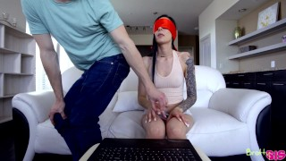 Marley Brinx - Touch My Body Challenge - Bratty Sis  point of view toy fucking alternative blindfold emo missionary skinny petite dark haired flexible tattoos stepsister adult toys
