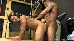 Hot Asian Jock Ken Ott Rides Muscleman Bryce Evans' Dick in BLACK PANDA Ep5