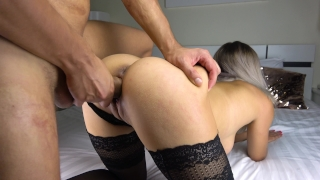 Teen Perfect Ass Blowjob and Cum on Legs porno