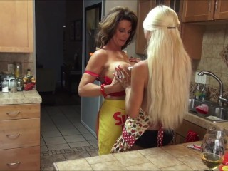 Preview 6 of Kasey Storm & Deauxma In Lesbian Baking Party Part 1