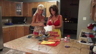 Preview 3 of Kasey Storm & Deauxma In Lesbian Baking Party Part 1