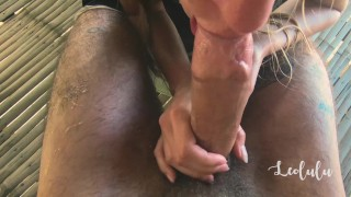 Preview 5 of Intense Fuck in the Treehouse with 2 Cumshots! Amateur Couple LeoLulu