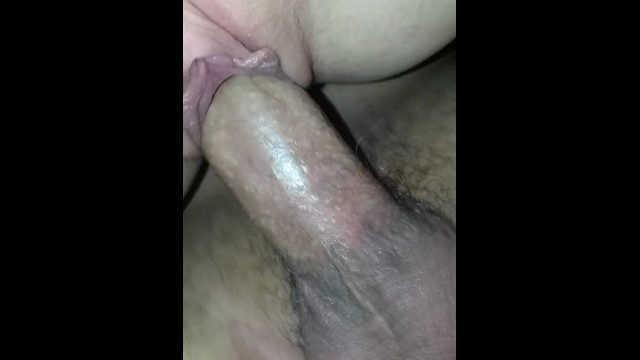 Cheating on my girlfriend with whore from work. POV tight gripping pussy