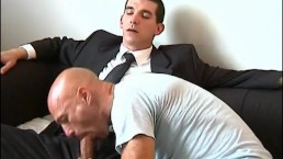 full video:French str8 salesman serviced his big cock by us in spite of him
