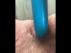Playing with my hairy pussy