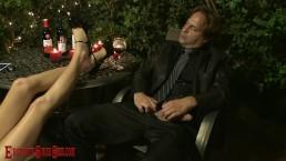 Candlelit wine high heel & foot sex session HOLIDAY PRESLEY & ERIC JOHN