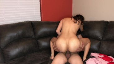 Sexy Latina Fucks her Boyfriend in Couch - Lexi Aaane