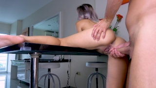 Teen Fuck on Table Closeup In watch