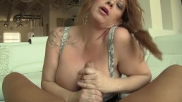 mature redhead gets the cum out quickly