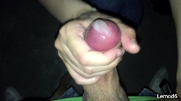She handjob my cock in a public hidden room until flowing cum a LOT!