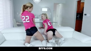BFFS - Hot Soccer Girls Riding Trainers Cock Hairy hairpulling