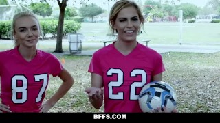 Bffs cock soccer hot girls riding trainers young teenager