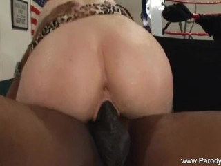 Anissa kate rides big black