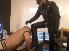 Leather sex and boot licking