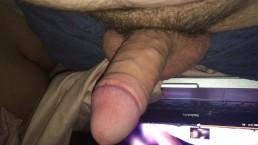 Cock Reacts:  hotcouplelovelysex pegging. I Jerk while GF Sleeps beside Me.