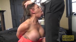 Nasty British subslut gagged for rough cunt pounding