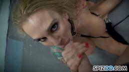 FirstClassPOV - Petite Sarah Jessie take a monster cock in her throat