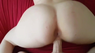Destroying her tight shaven pussy